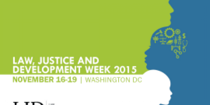 Law, Justice and Development Week 2015