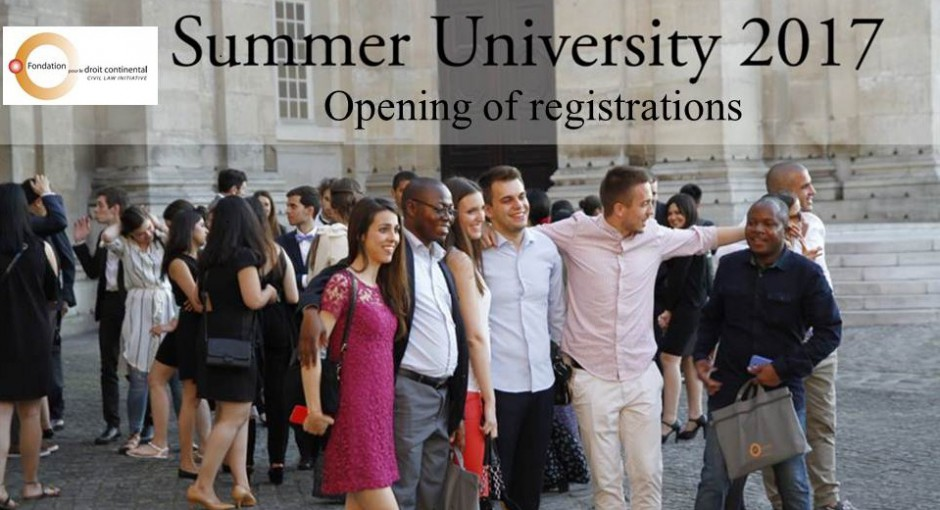Opening of summer university registrations July 3rd-21st 2017