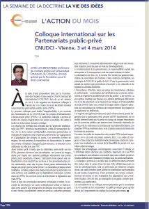 Colloque international PPP
