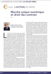 Droit des contrats JCP G mars 2016