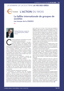 Faillite internationale Cnudci