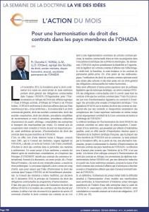 Photo article Réforme du droit des contrats Dorothé Sossa
