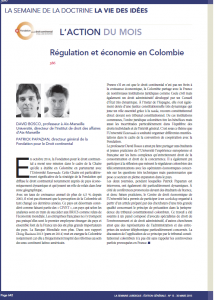 Régulation en Colombie