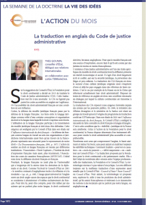 traduction du code de justice administrative