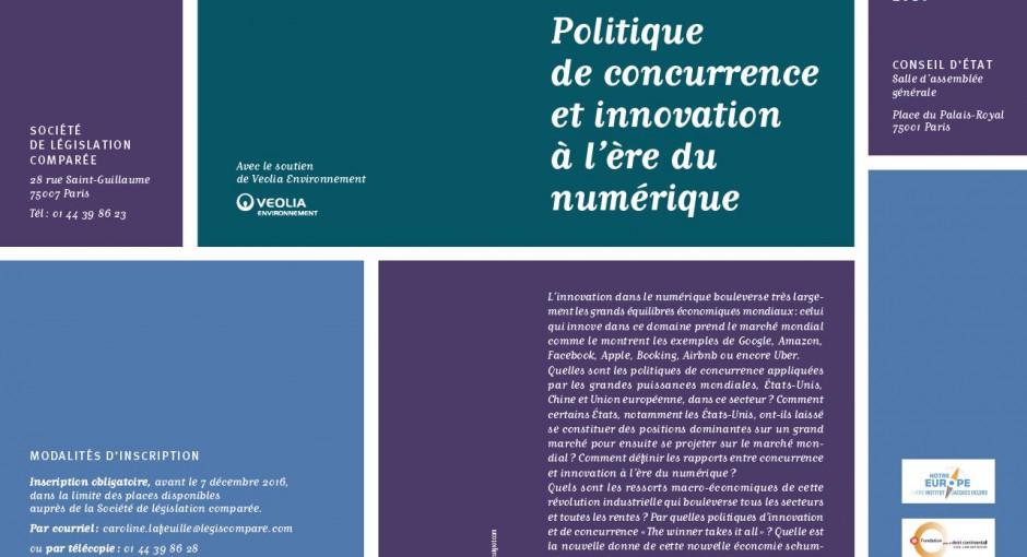 Colloque: Politique de la concurrence et innovation à l'ère du numérique