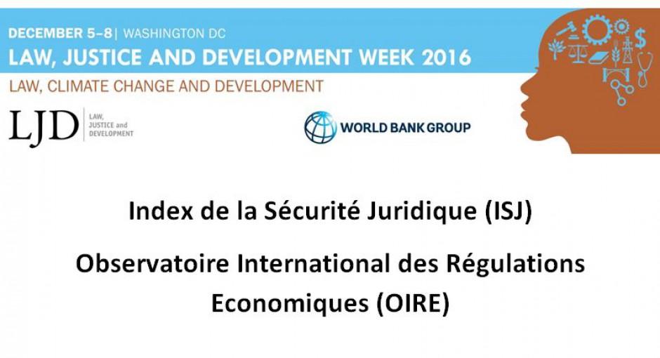 Semaine du droit, de la justice et du développement / Law, Justice and Development week 2016