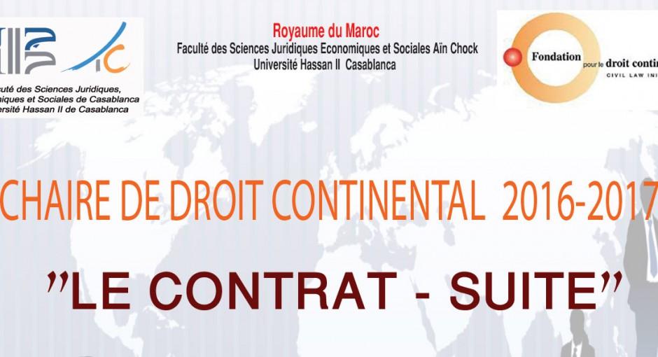 Chaire de droit continental au Maroc