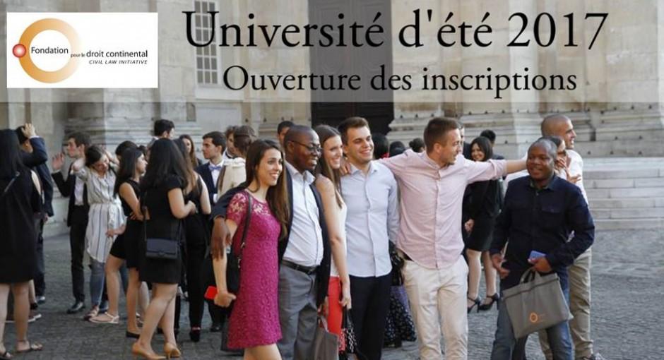 Ouverture des inscriptions de l'Université d'été 3-21 juillet 2017