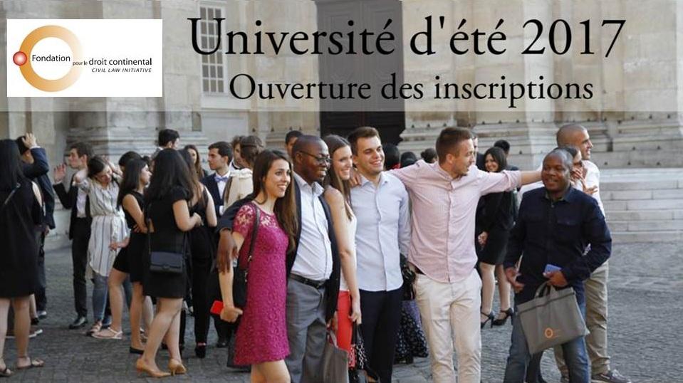 Université d'été du droit continental  03 - 21 juillet 2017