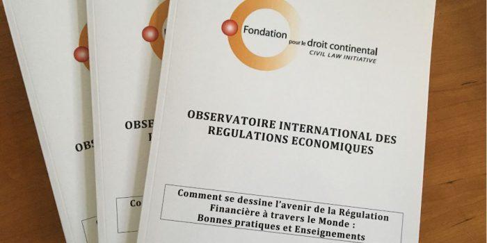 Télécharger le nouveau rapport de l'Observatoire international des régulations économiques