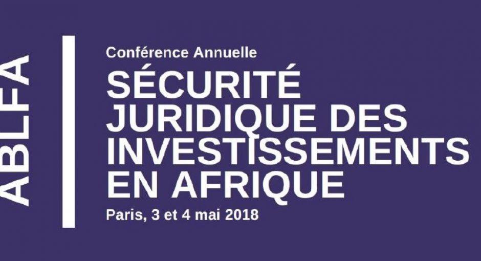 Troisième conférence sur la sécurité juridique des investissements en Afrique